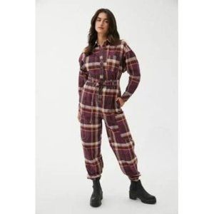 Urban Outfitters ADAM PLAID JUMPSUIT  XS